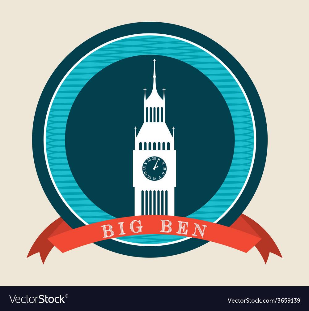 Big ben vector | Price: 1 Credit (USD $1)