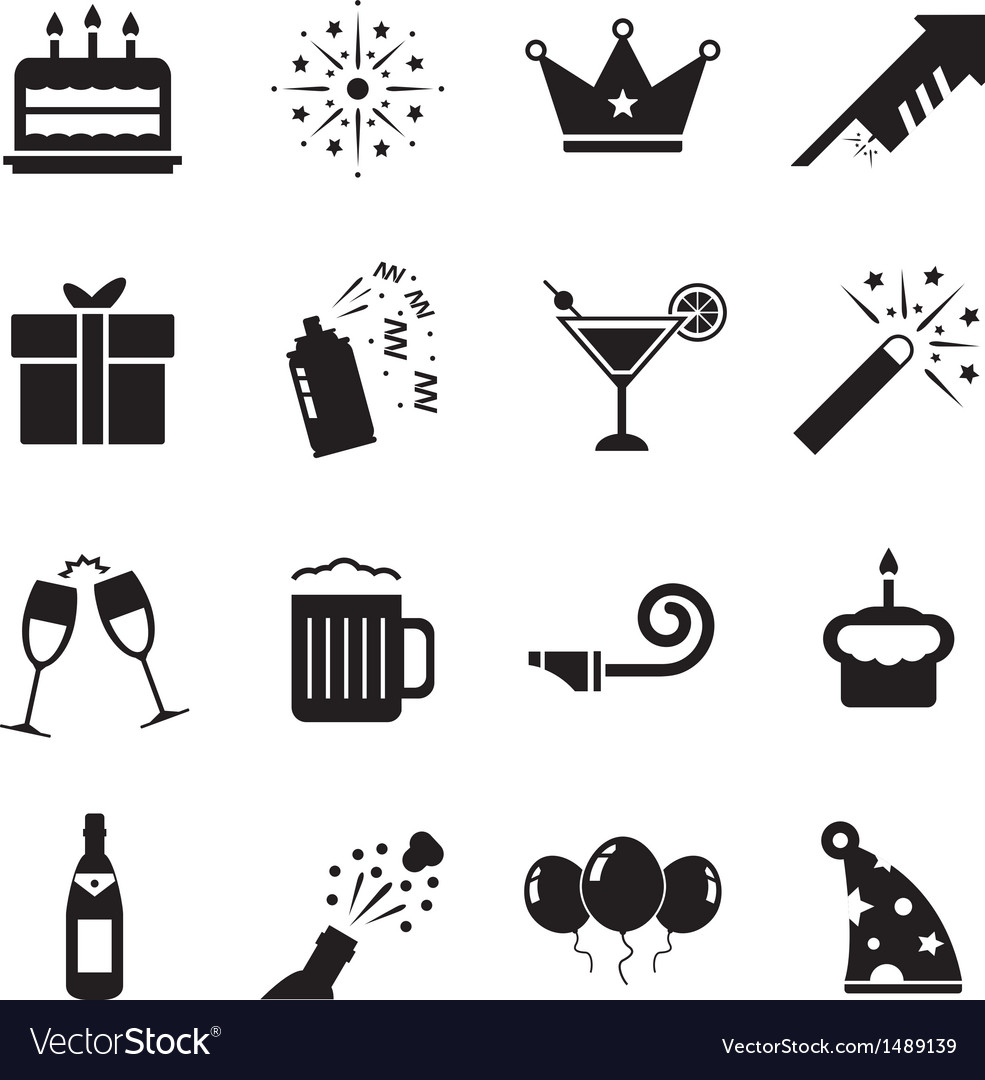 Celebration icon vector | Price: 1 Credit (USD $1)