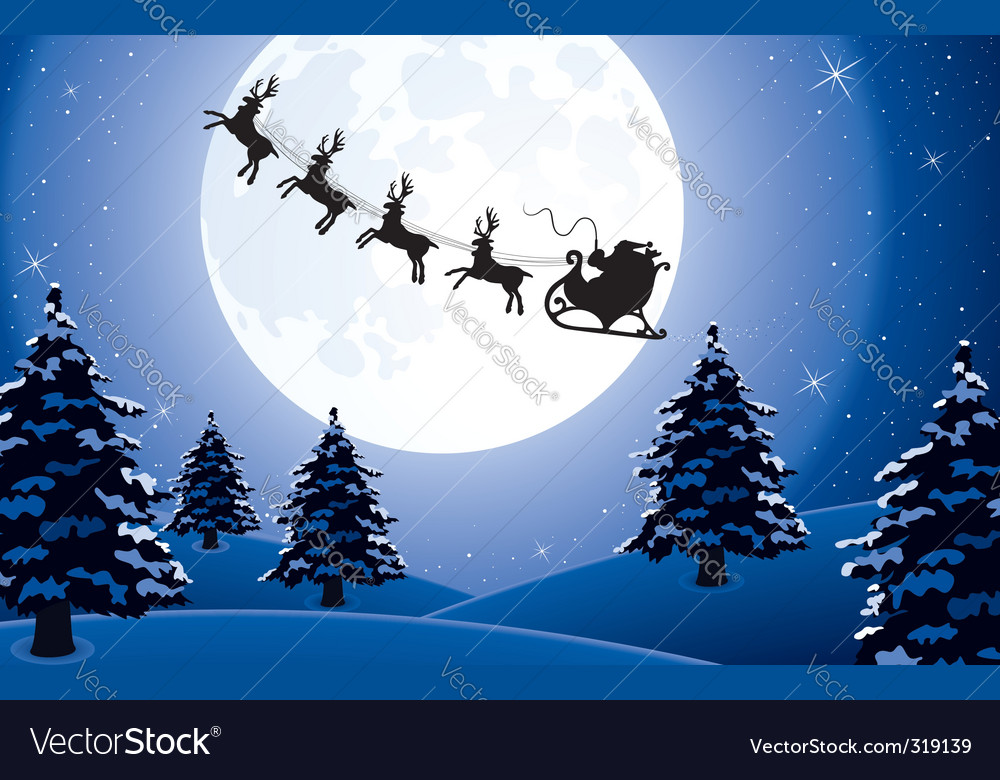 Christmas background with santa vector | Price: 1 Credit (USD $1)