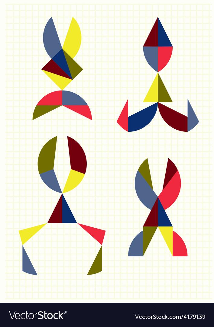 Different forms of scissors tangram vector   Price: 1 Credit (USD $1)