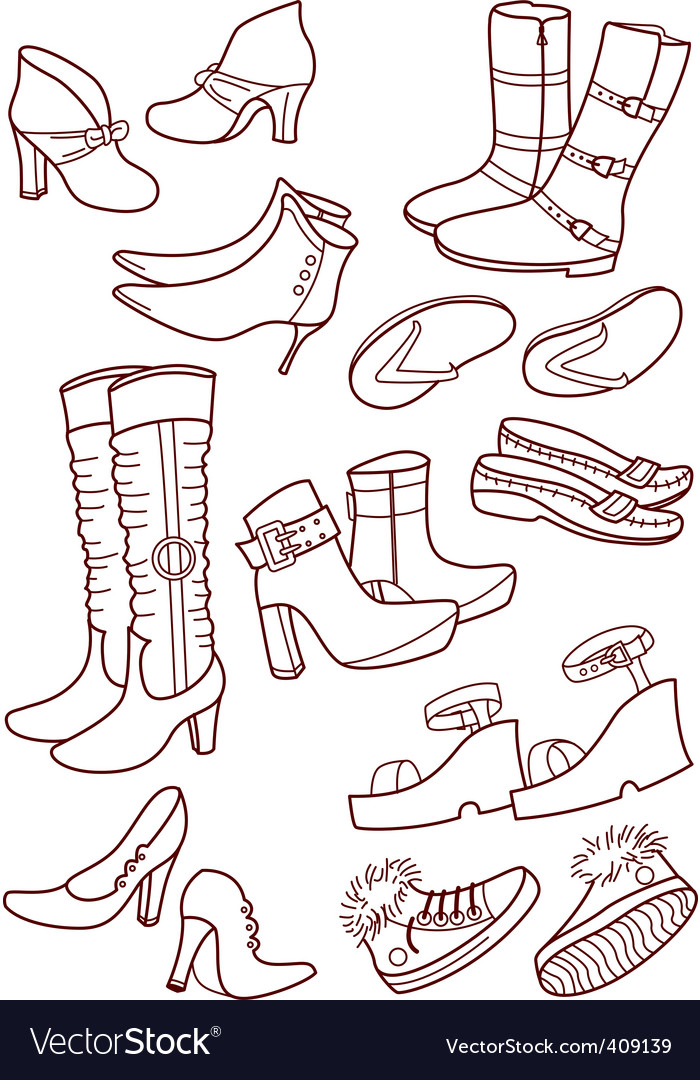 Female footwear vector | Price: 1 Credit (USD $1)