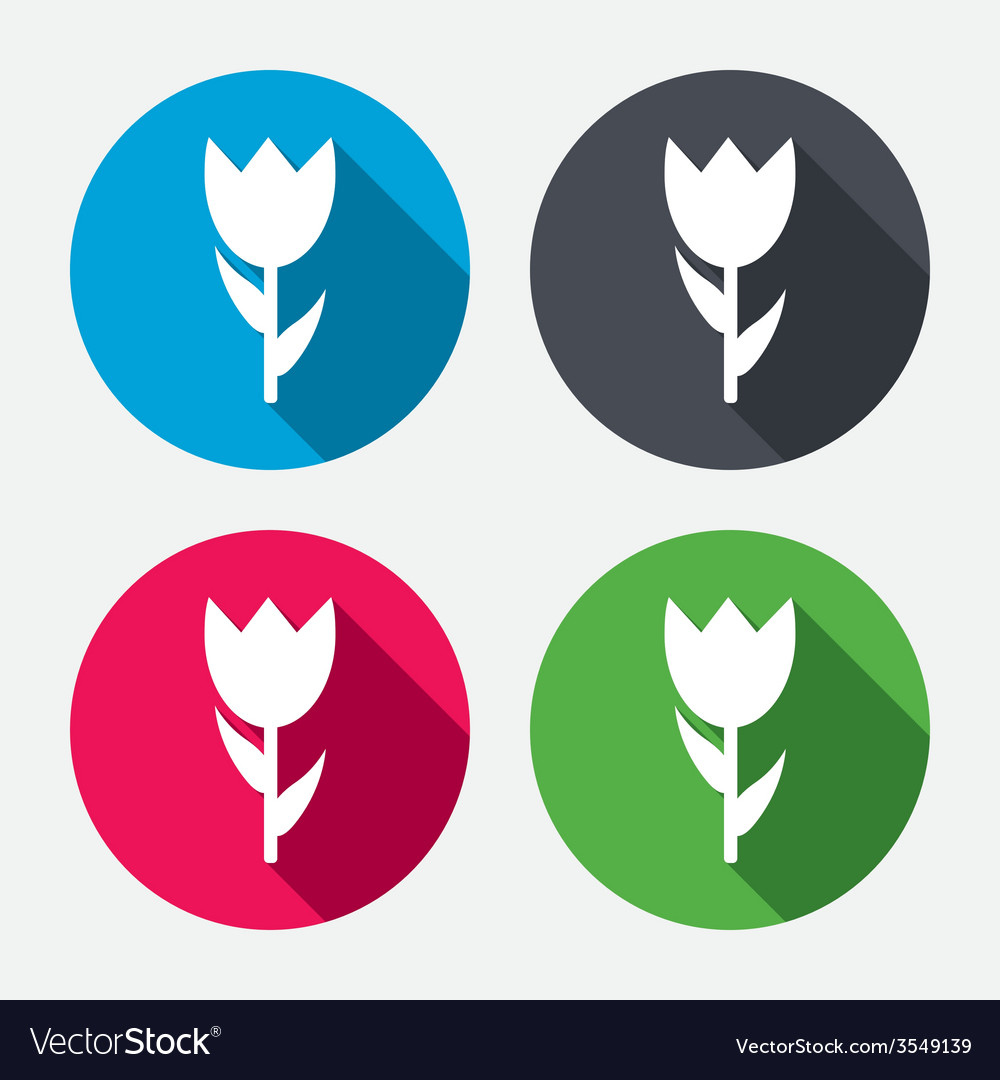 Flower sign icon rose symbol vector | Price: 1 Credit (USD $1)