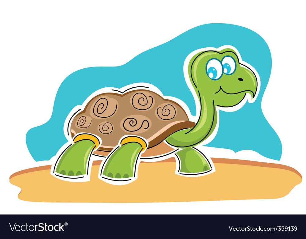 Happy tortoise vector | Price: 1 Credit (USD $1)