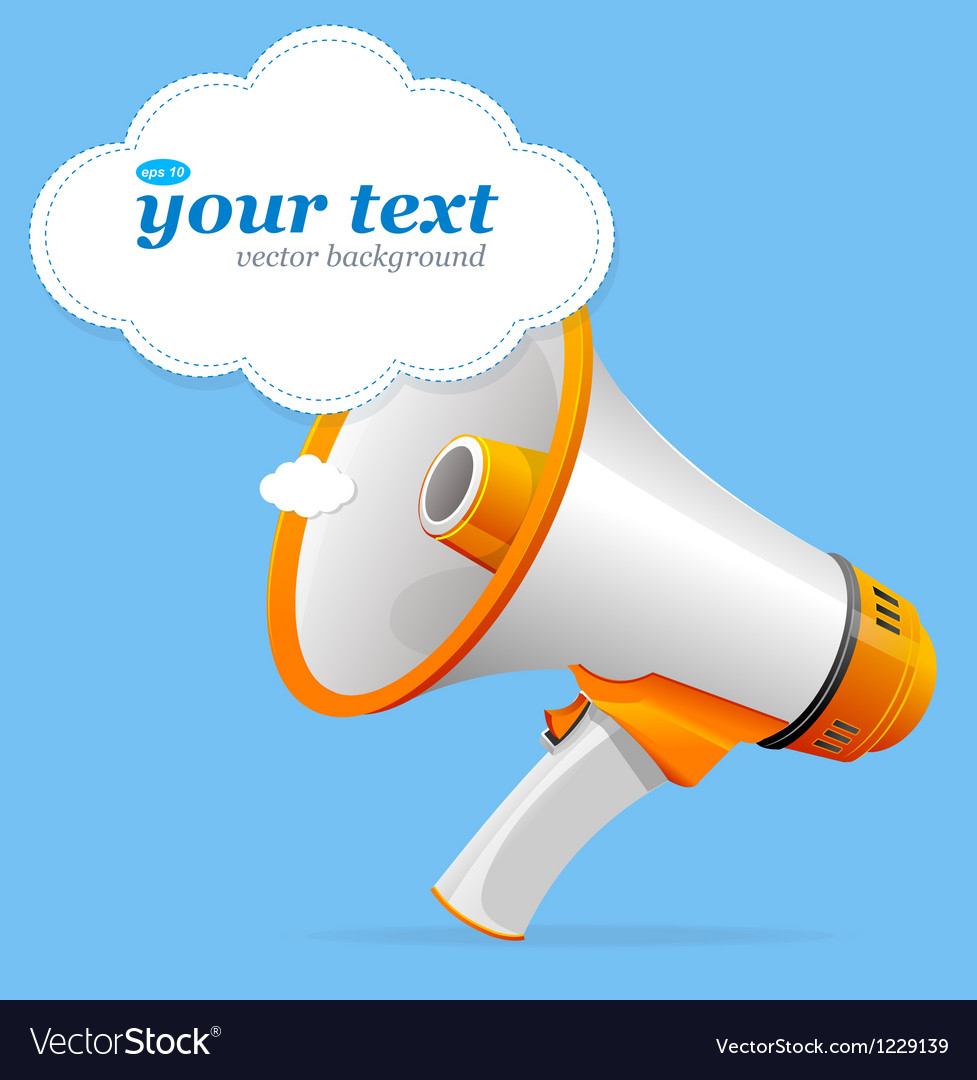 Megaphone speech templates for text vector | Price: 3 Credit (USD $3)