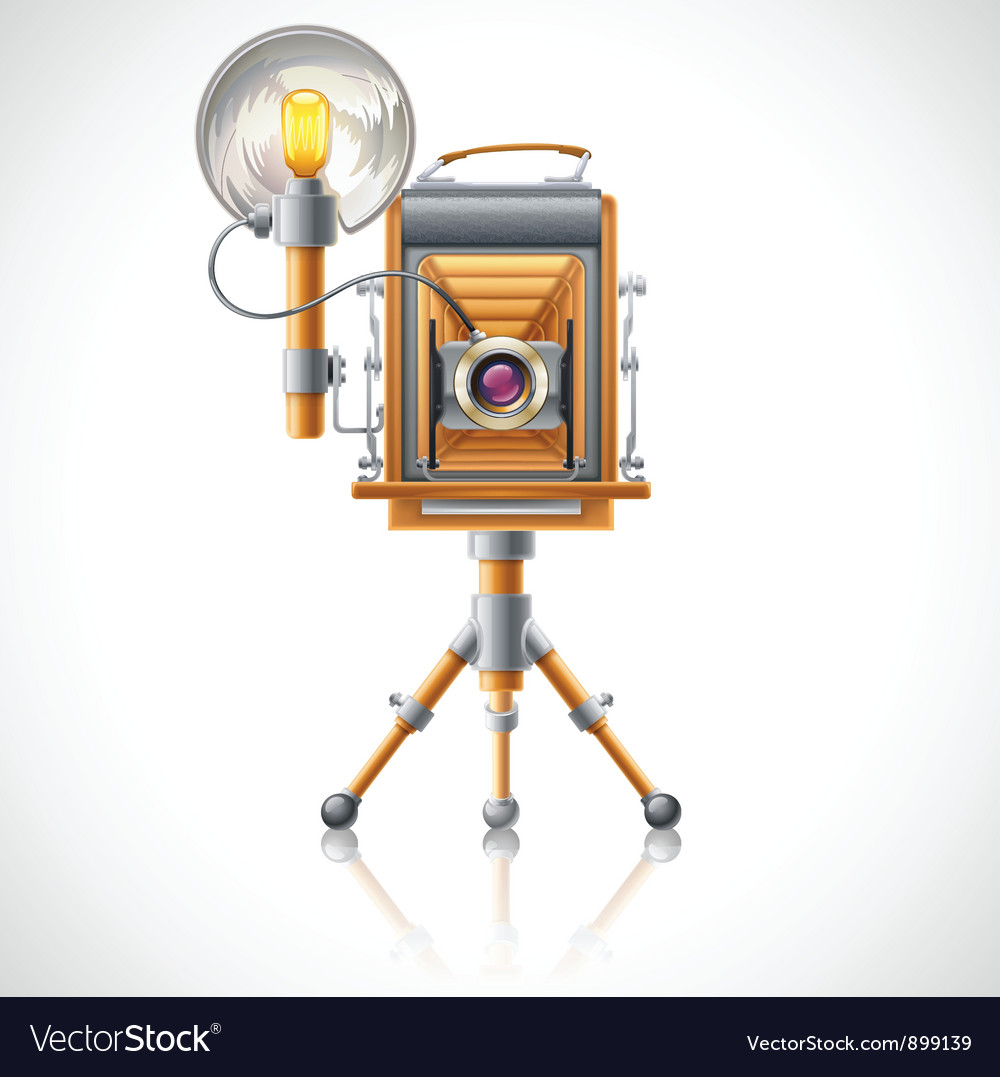 Old camera vector | Price: 3 Credit (USD $3)