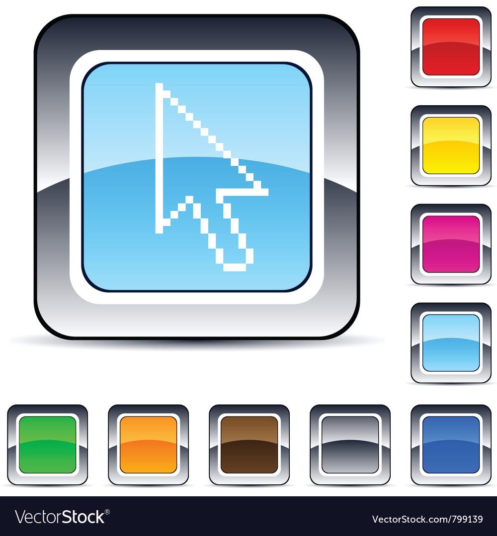 Pixel arrow square button vector   Price: 1 Credit (USD $1)