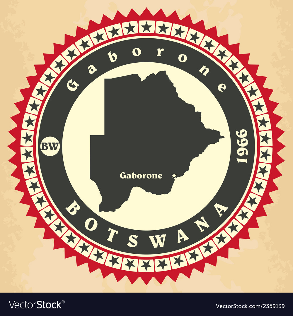 Vintage label-sticker cards of botswana vector | Price: 1 Credit (USD $1)