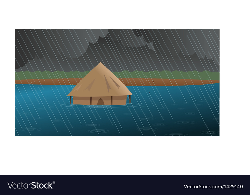 African village vector | Price: 1 Credit (USD $1)