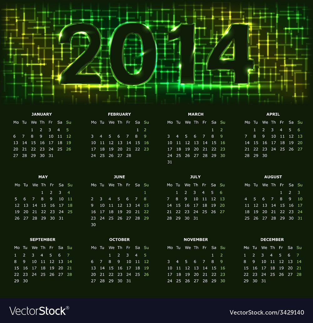 Calendar14 05 vector | Price: 1 Credit (USD $1)