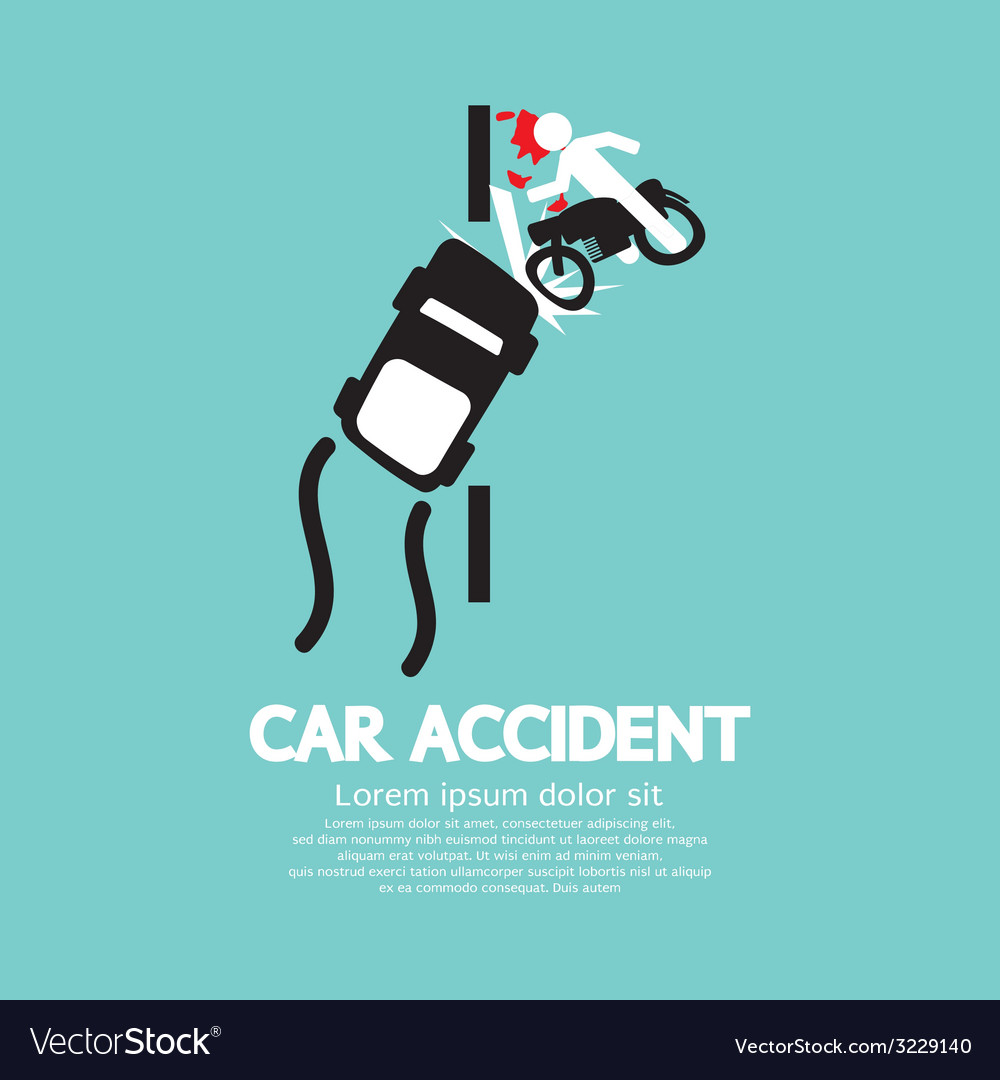 Car accident vector | Price: 1 Credit (USD $1)