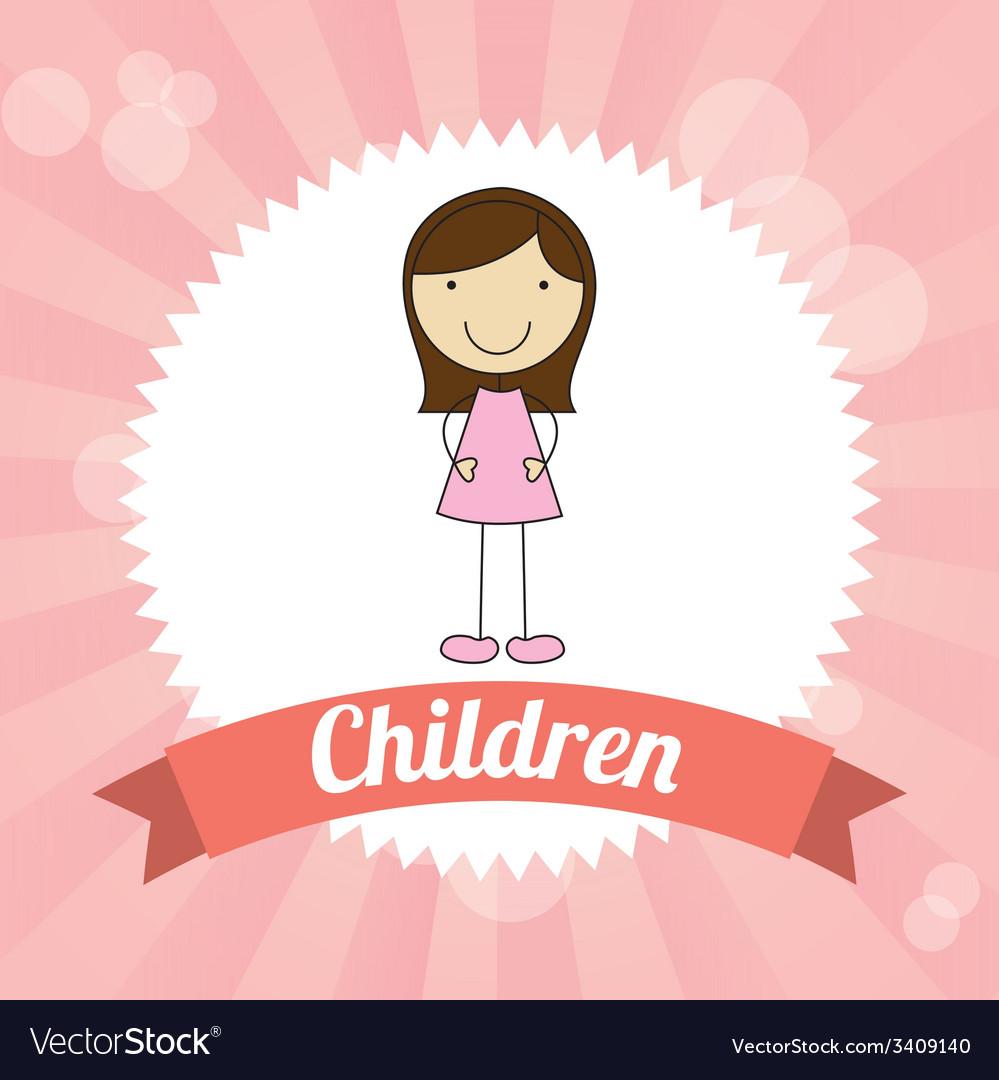 Children design vector | Price: 1 Credit (USD $1)