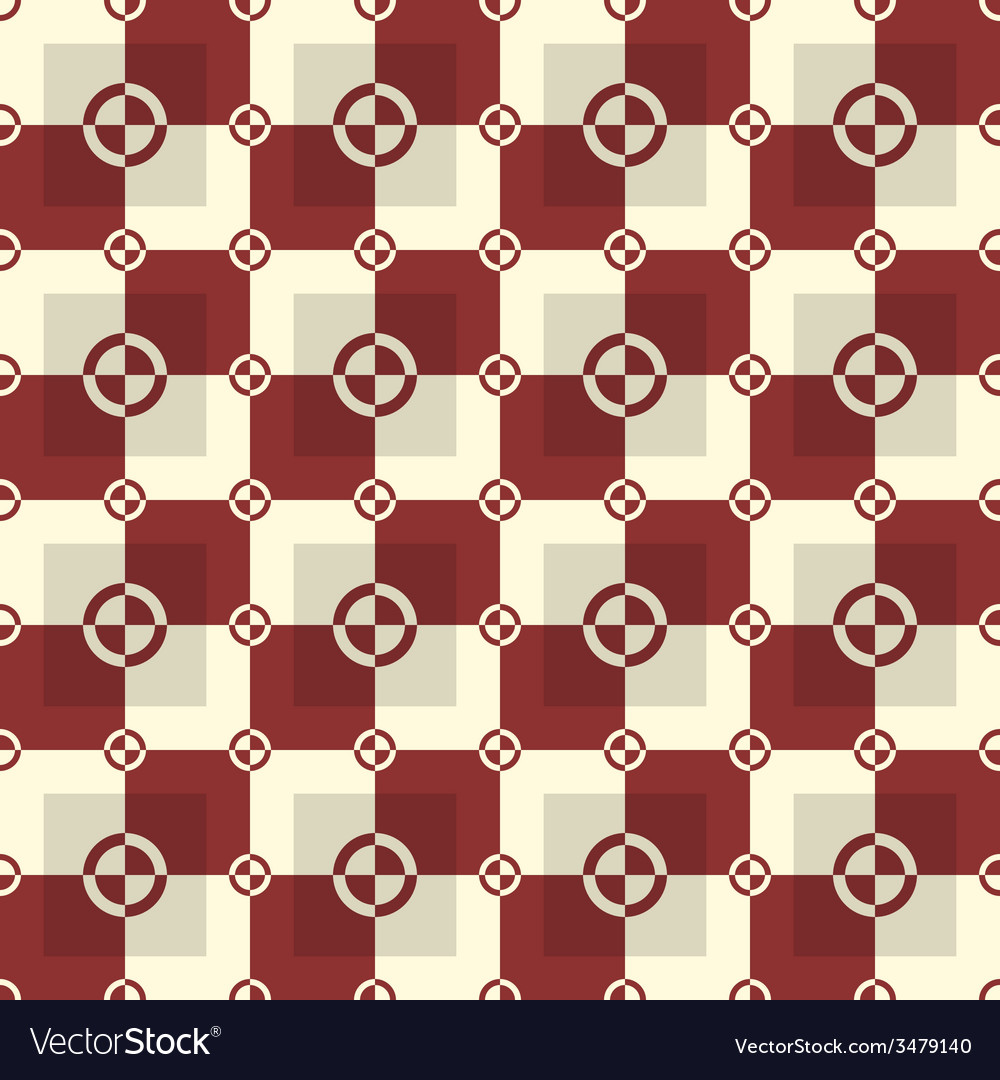Circle-squares pattern in red and sand colors vector | Price: 1 Credit (USD $1)