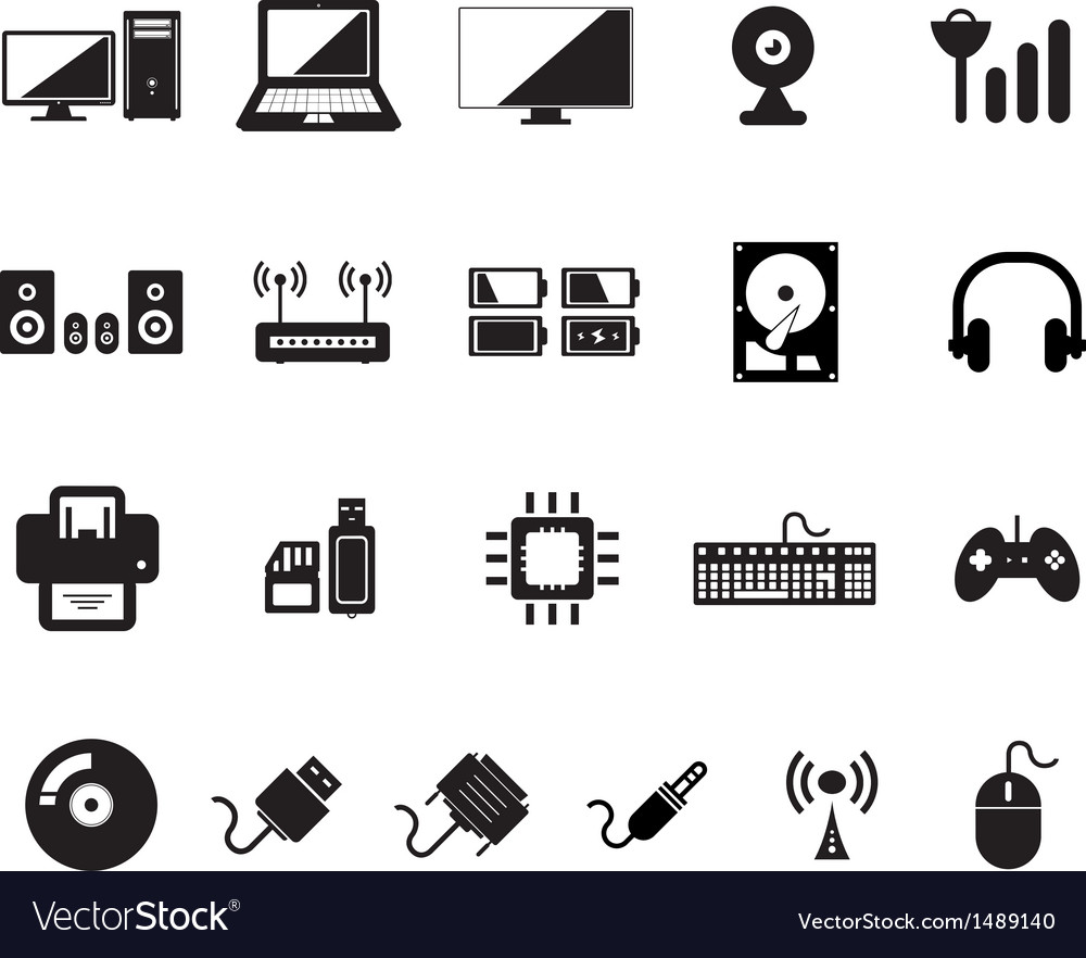 Computer icon vector | Price: 1 Credit (USD $1)