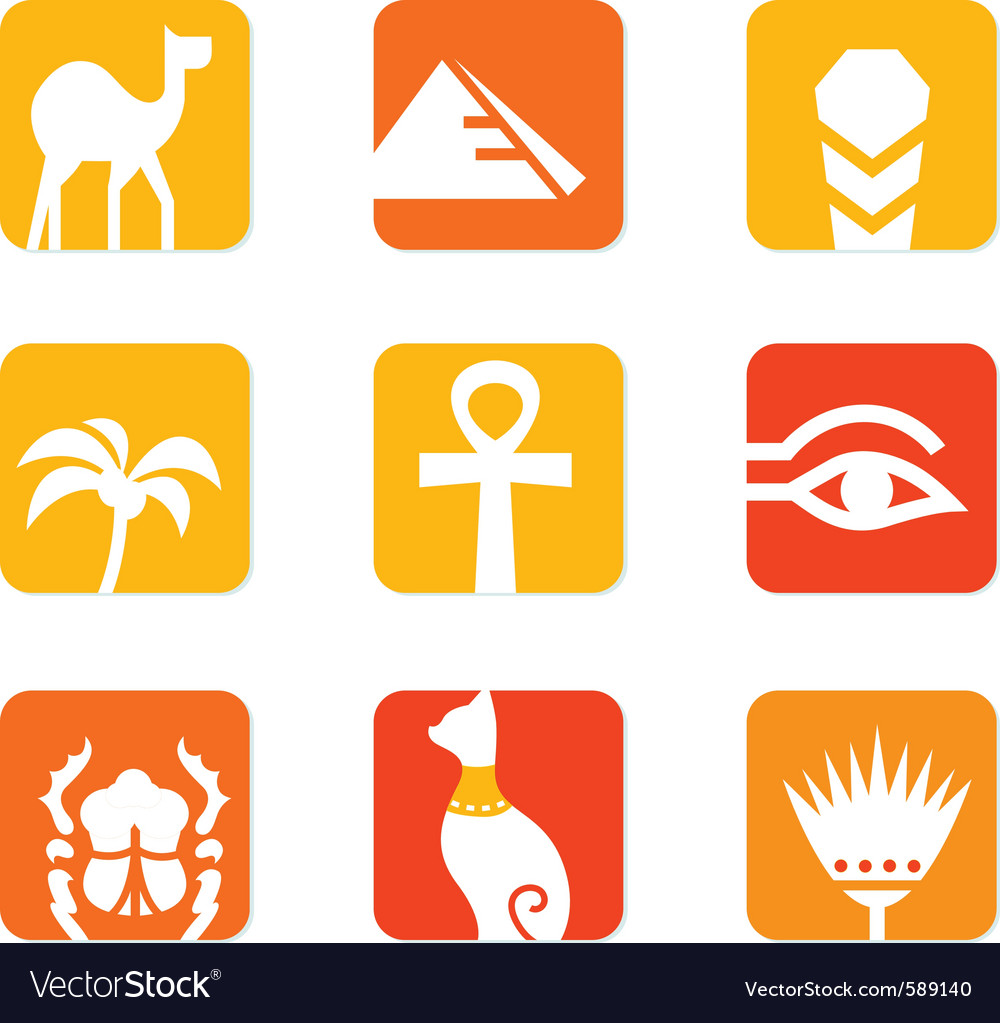 Egypt icons vector | Price: 1 Credit (USD $1)