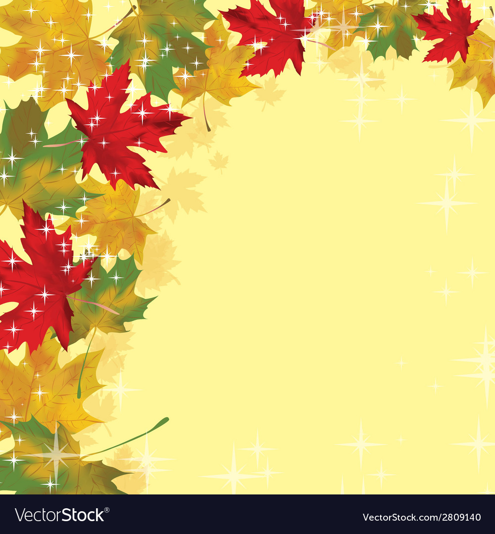 Frame with colored autumn leaves vector | Price: 1 Credit (USD $1)