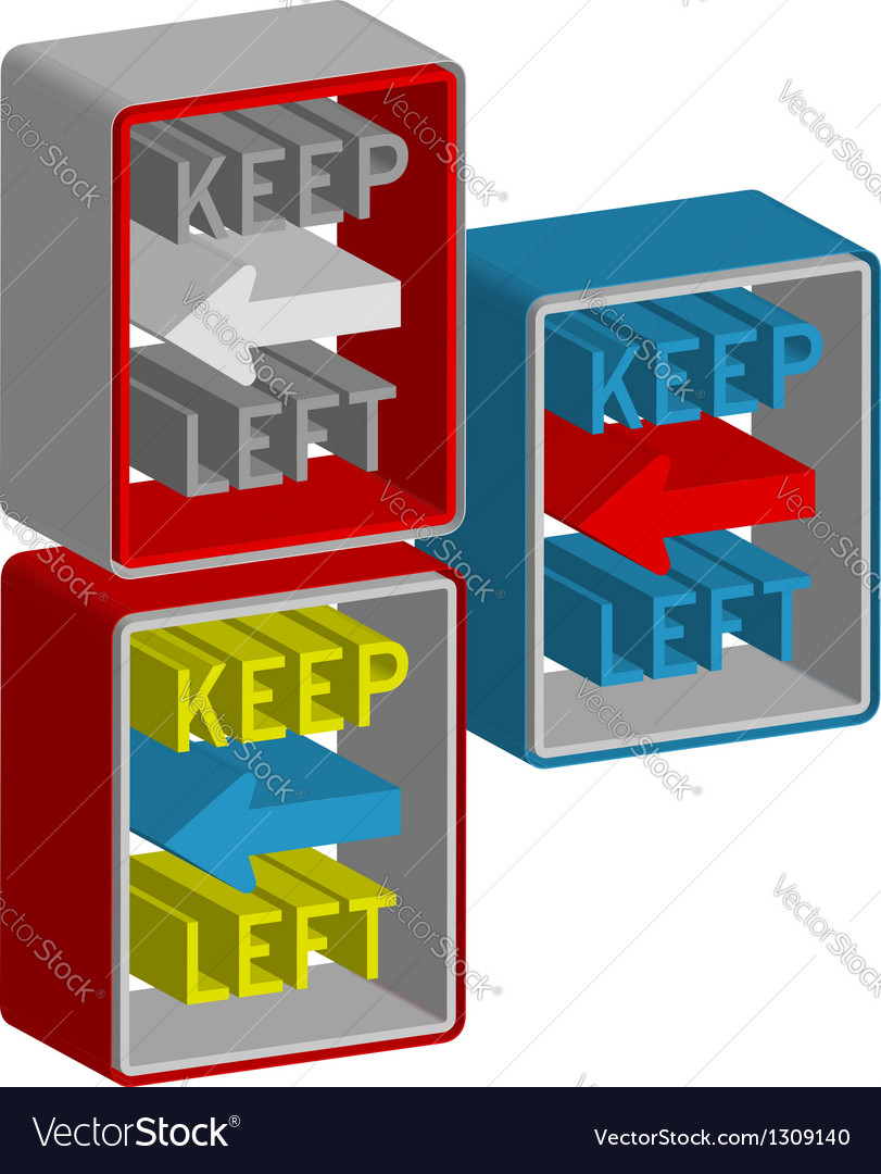Keep left vector | Price: 1 Credit (USD $1)