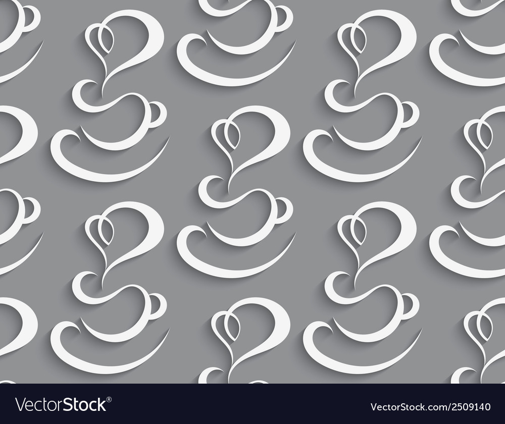 Seamless coffee cup background vector | Price: 1 Credit (USD $1)