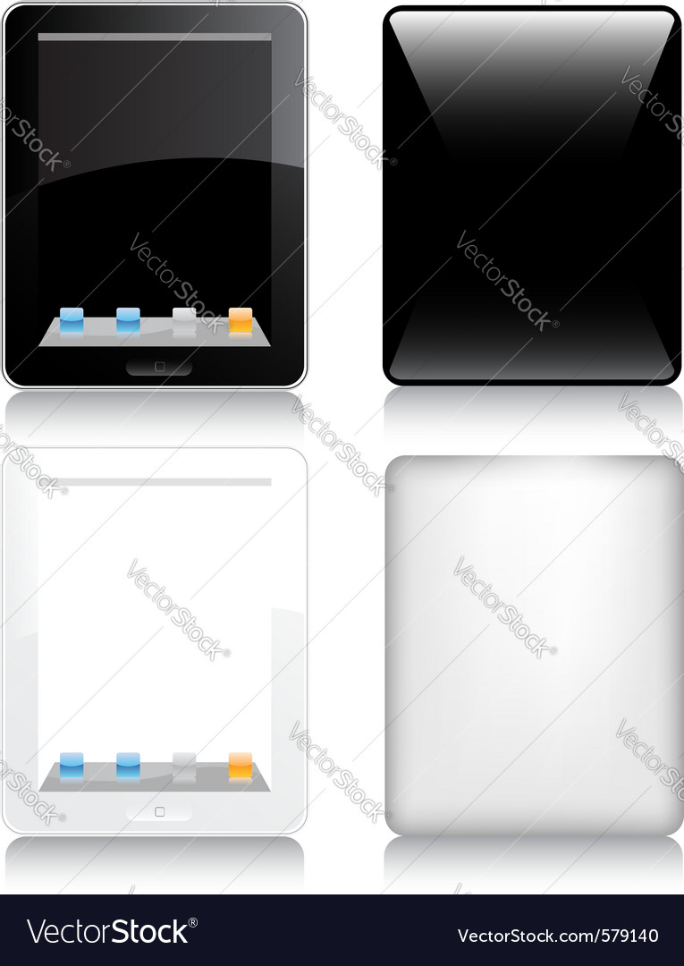 Touchscreen tablet computer vector | Price: 1 Credit (USD $1)