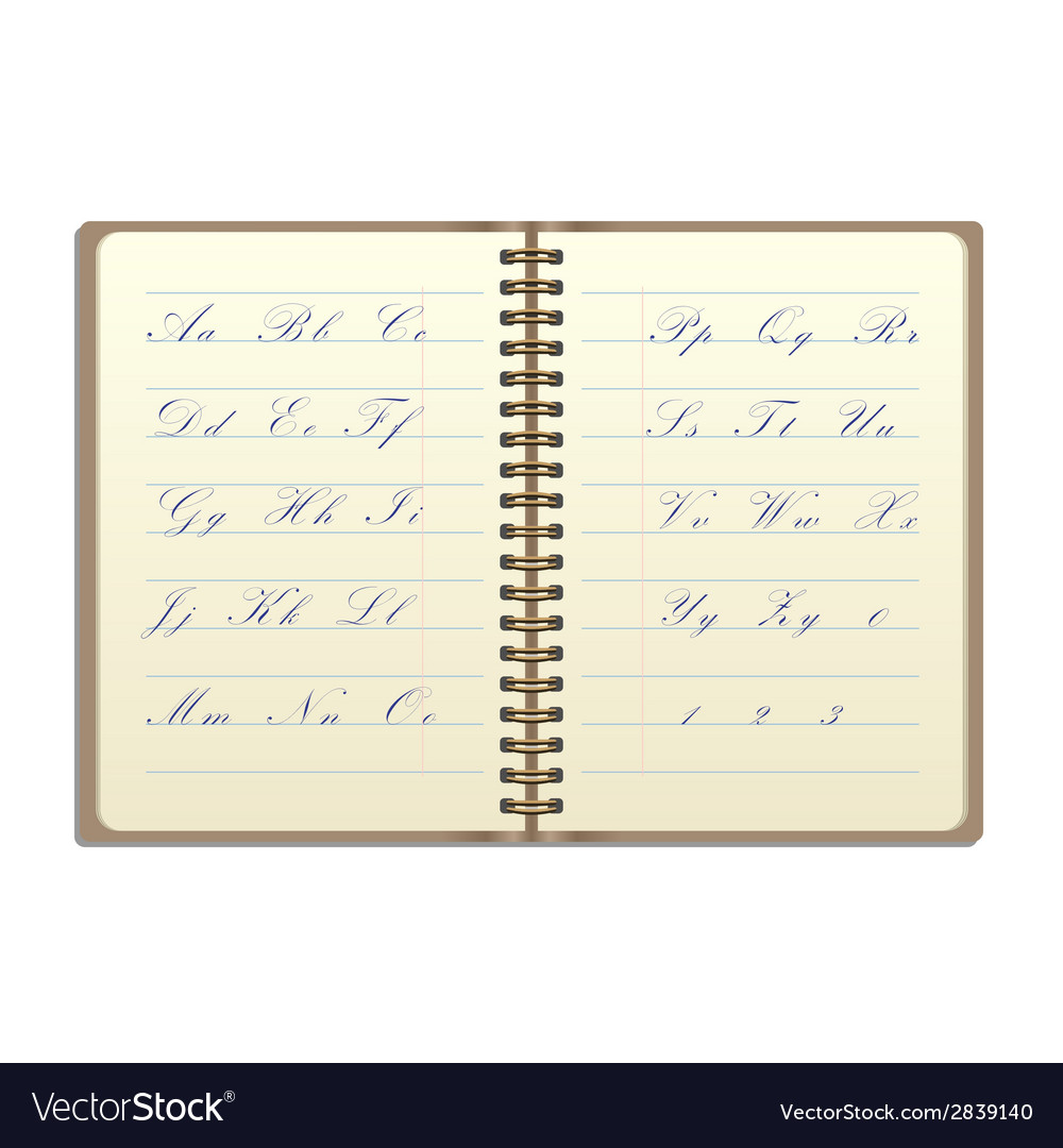 Vintage notebook vector | Price: 1 Credit (USD $1)