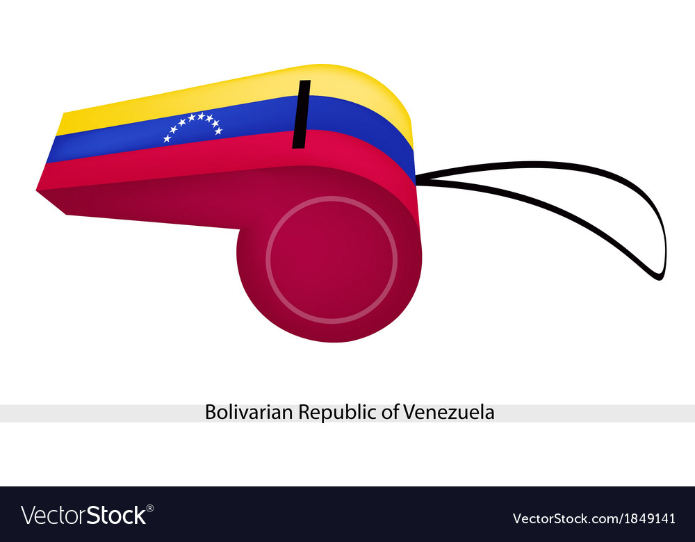 A whistle of bolivarian republic of venezuela vector | Price: 1 Credit (USD $1)