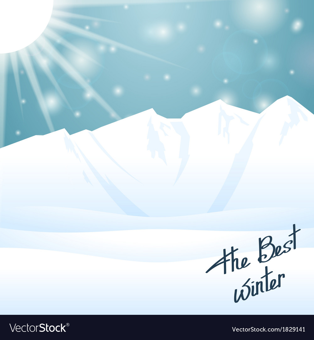 The best winter happy holiday vector | Price: 1 Credit (USD $1)