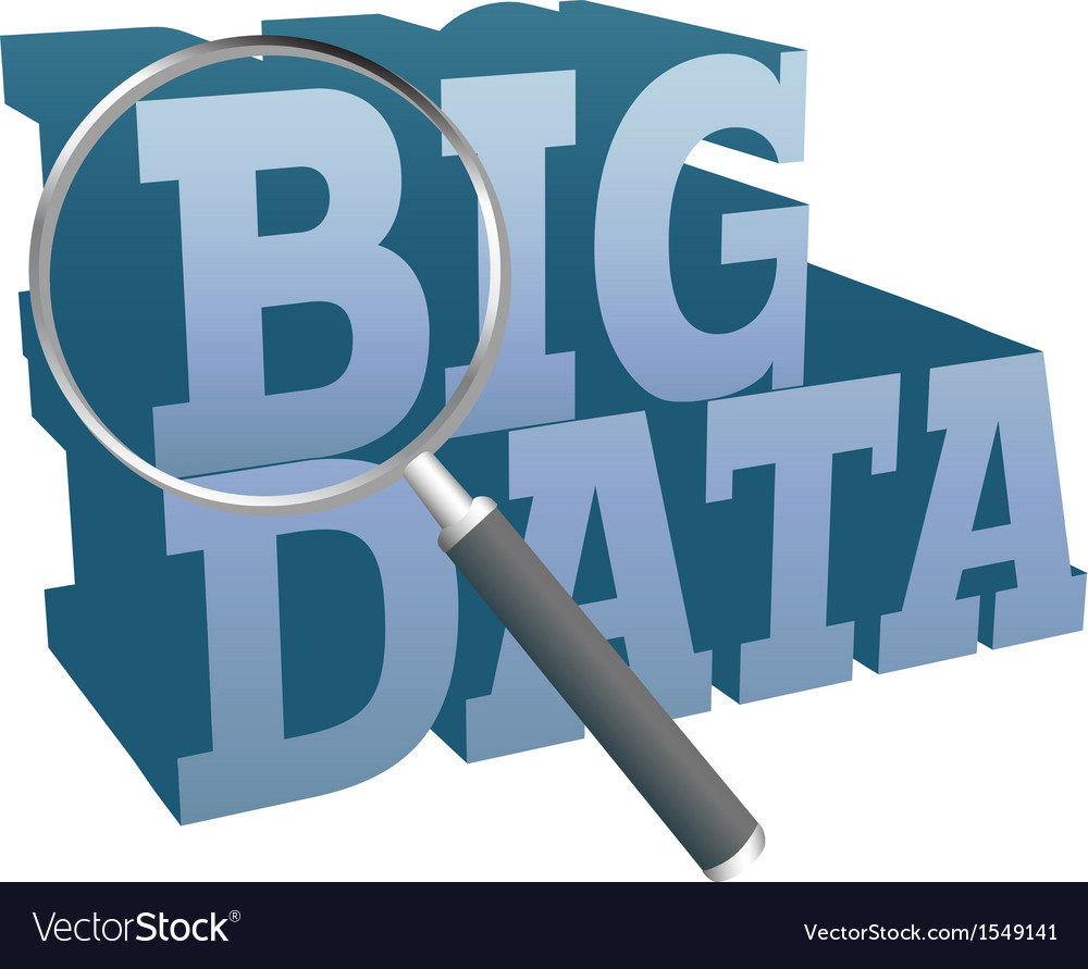 Big data find information technology vector | Price: 1 Credit (USD $1)