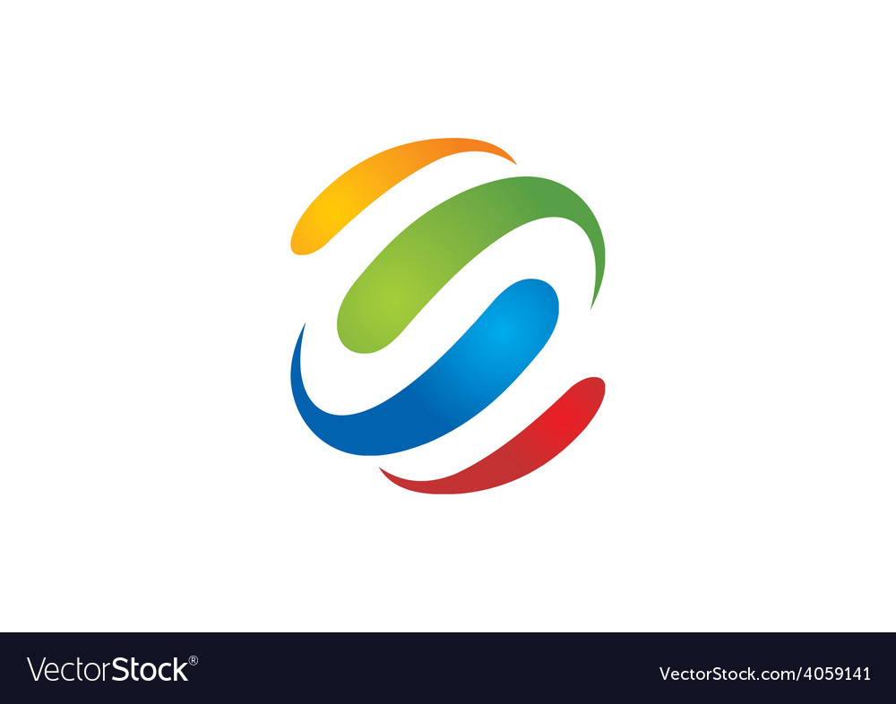 Colorful loop business logo vector | Price: 1 Credit (USD $1)