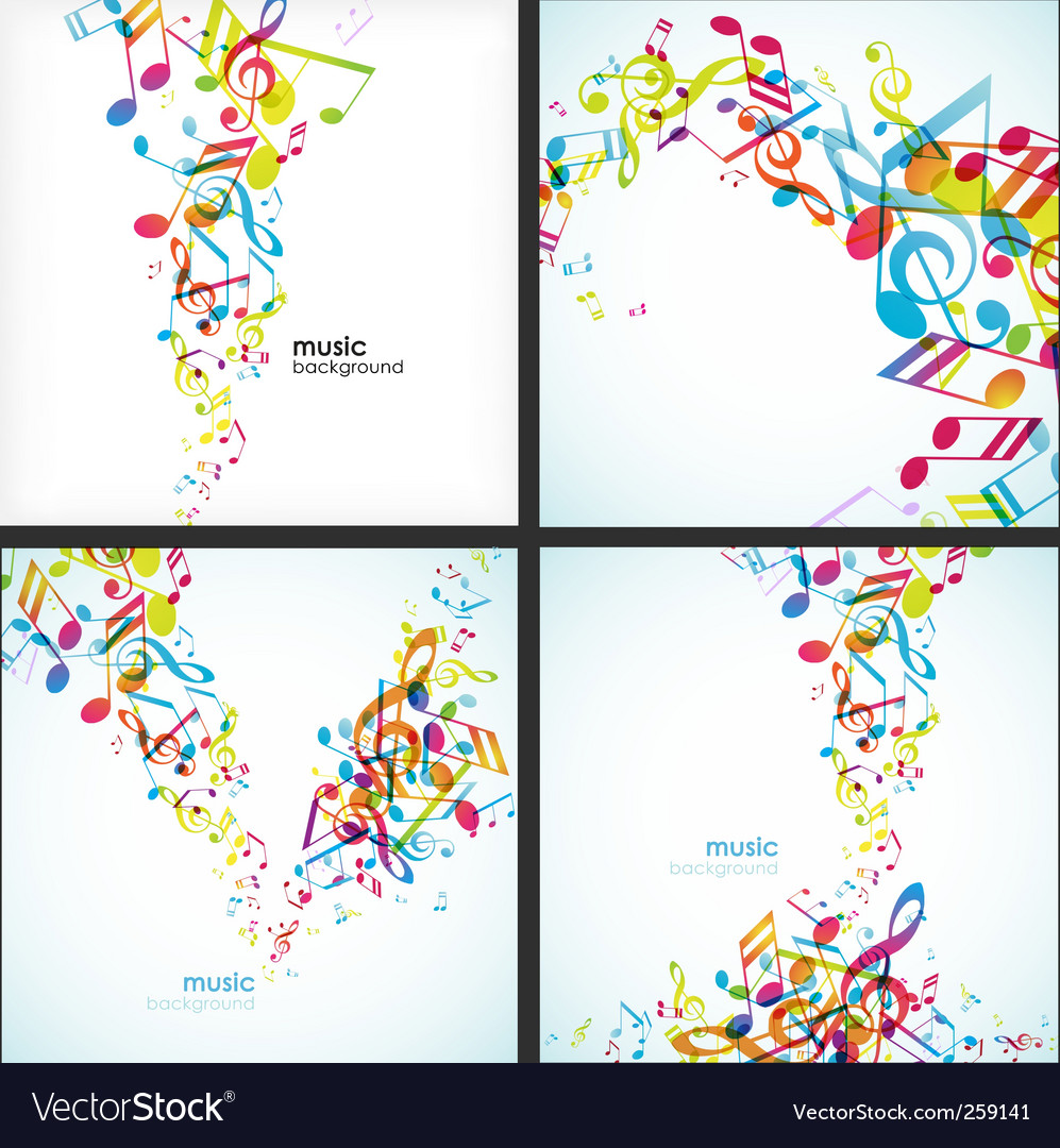 Colorful music vector | Price: 1 Credit (USD $1)
