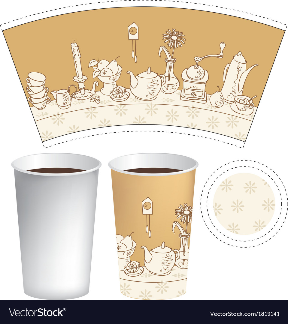Cup for coffee vector   Price: 1 Credit (USD $1)