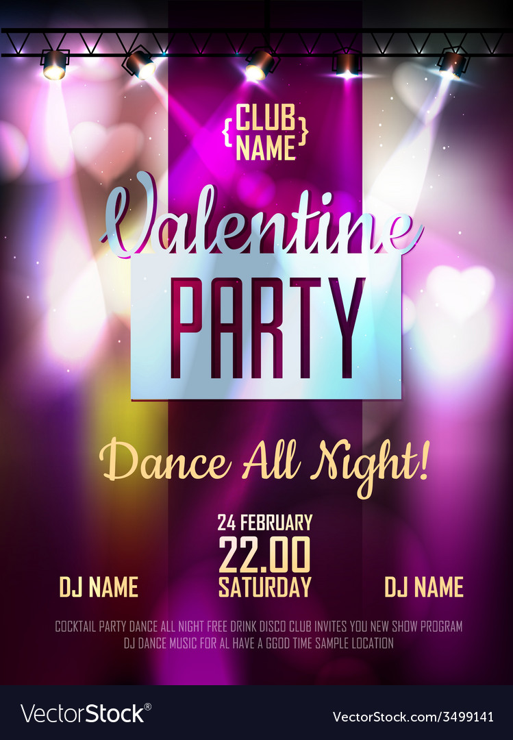 Disco valentine background disco poster vector | Price: 3 Credit (USD $3)
