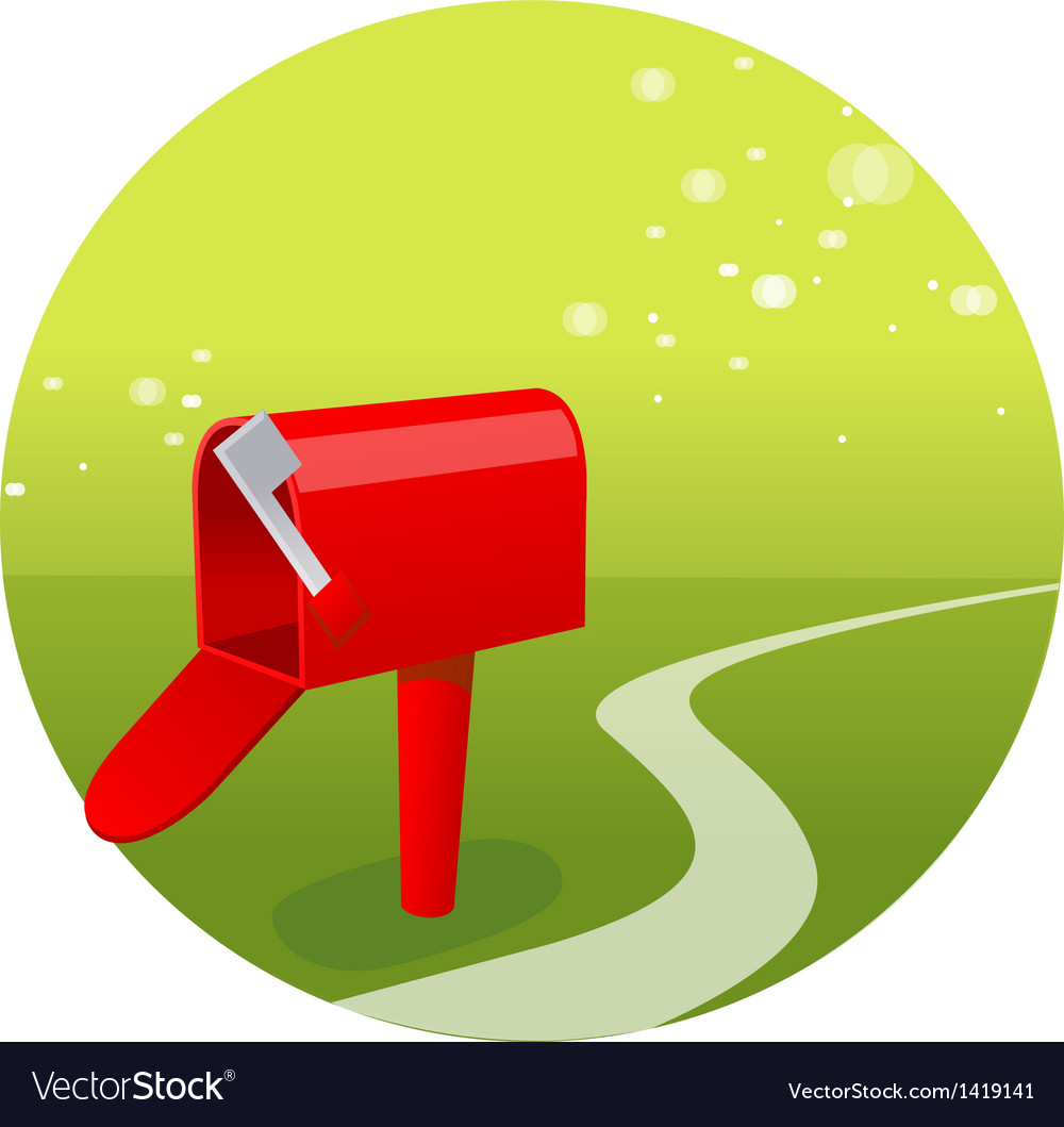 Empty mailbox green landscape vector | Price: 1 Credit (USD $1)