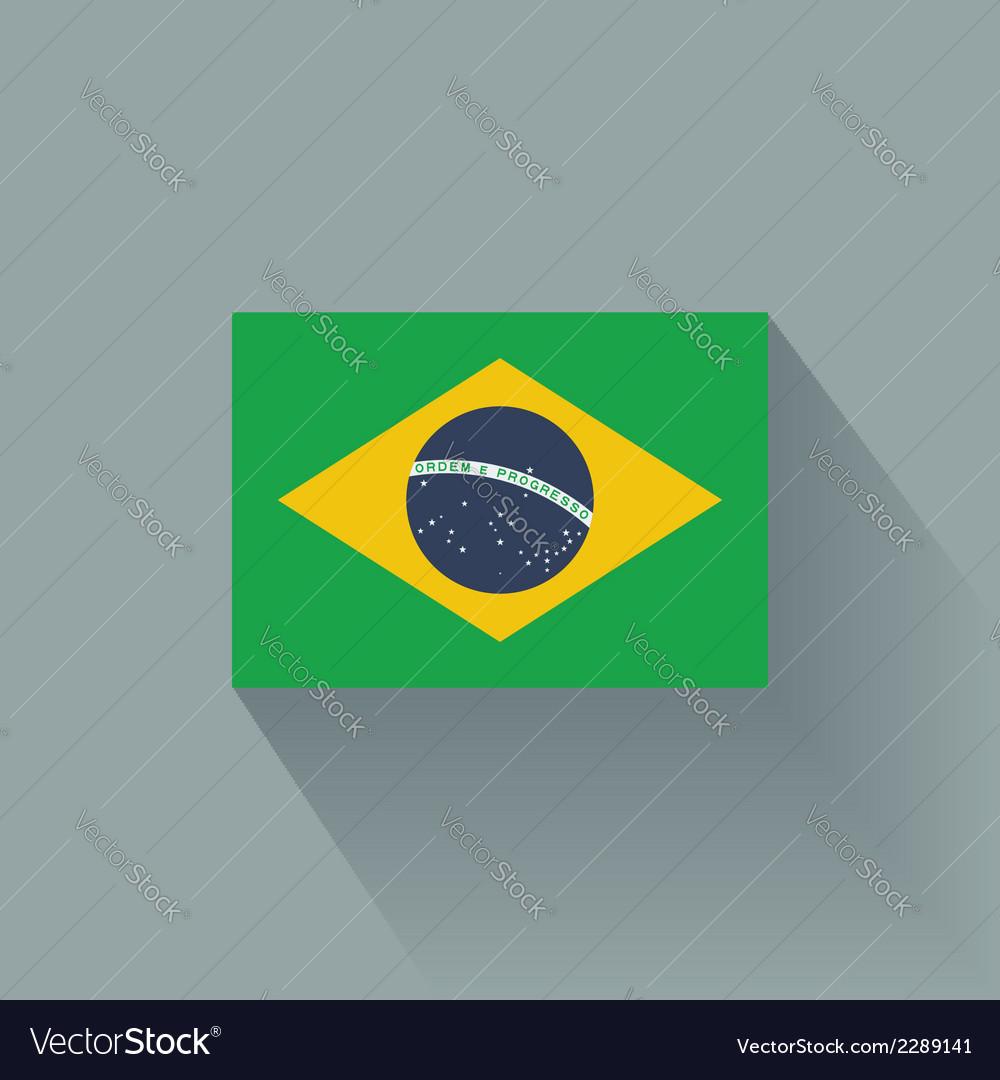 Flat flag of brazil vector | Price: 1 Credit (USD $1)