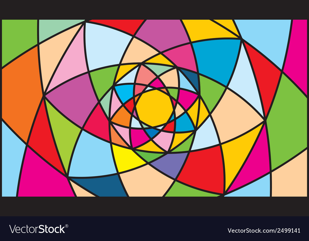 Kaleidoscope color background vector | Price: 1 Credit (USD $1)
