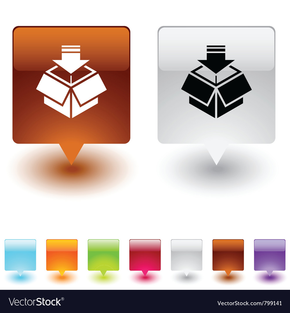 Package square button vector   Price: 1 Credit (USD $1)