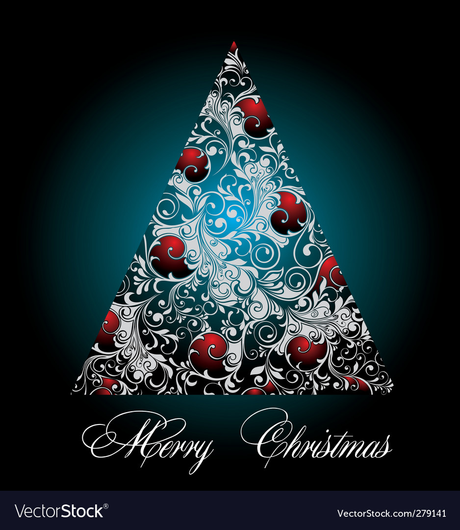 Silver blue christmas tree vector | Price: 1 Credit (USD $1)