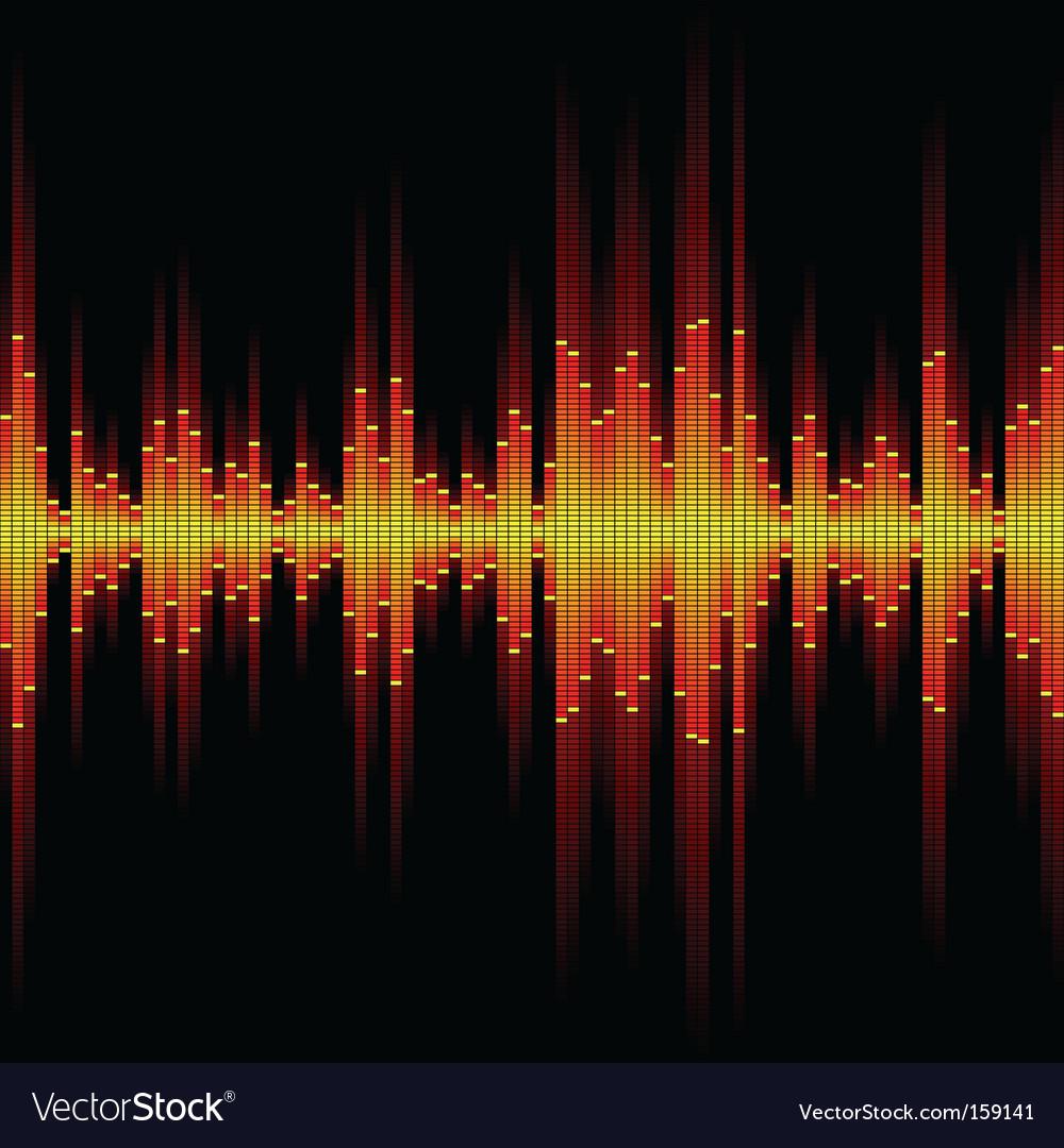 Sound waveform vector | Price: 1 Credit (USD $1)