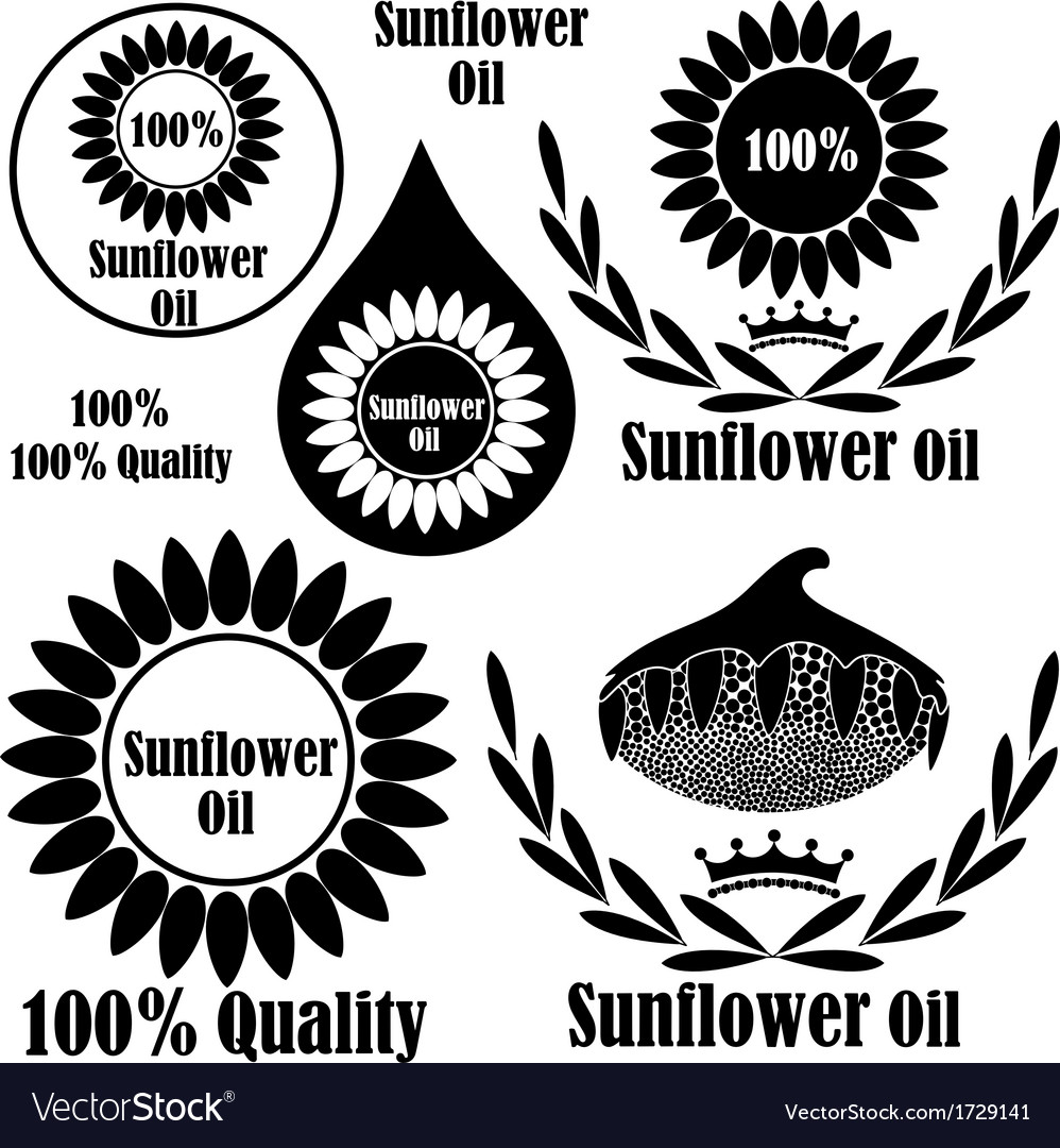 Sunflower oil vector | Price: 1 Credit (USD $1)