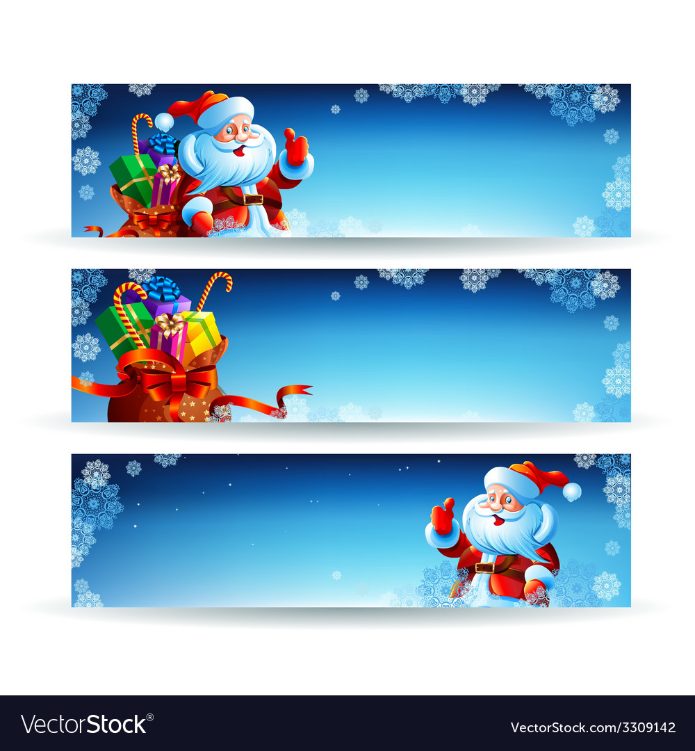 Banner with a bag of christmas gifts vector | Price: 3 Credit (USD $3)