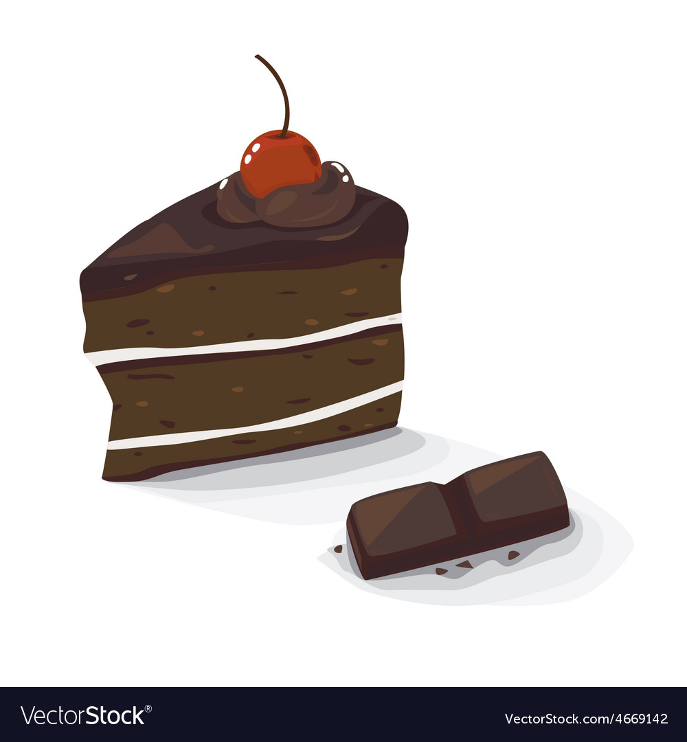 Choc cake vector | Price: 1 Credit (USD $1)