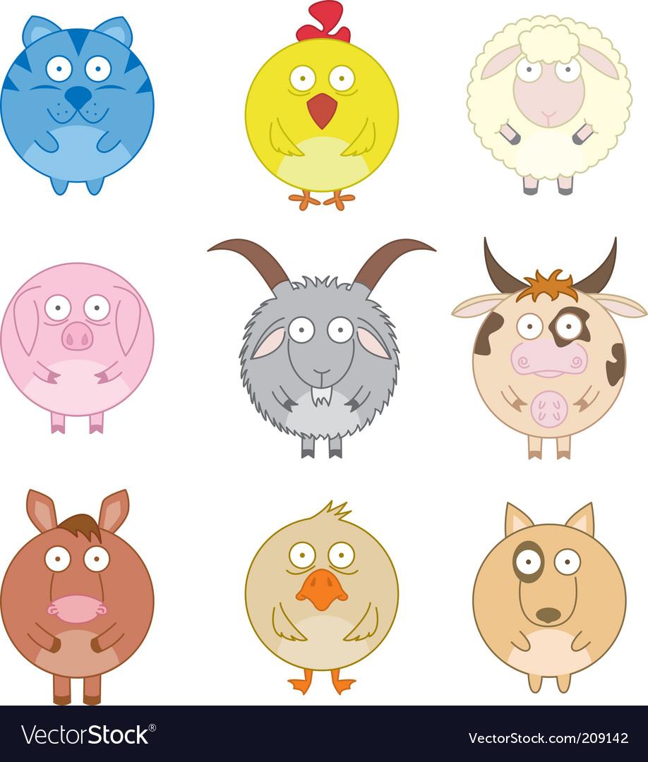 Farm animals vector | Price: 1 Credit (USD $1)