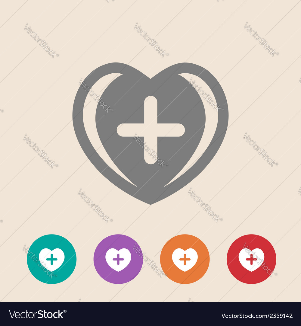 First aid medical sign vector | Price: 1 Credit (USD $1)