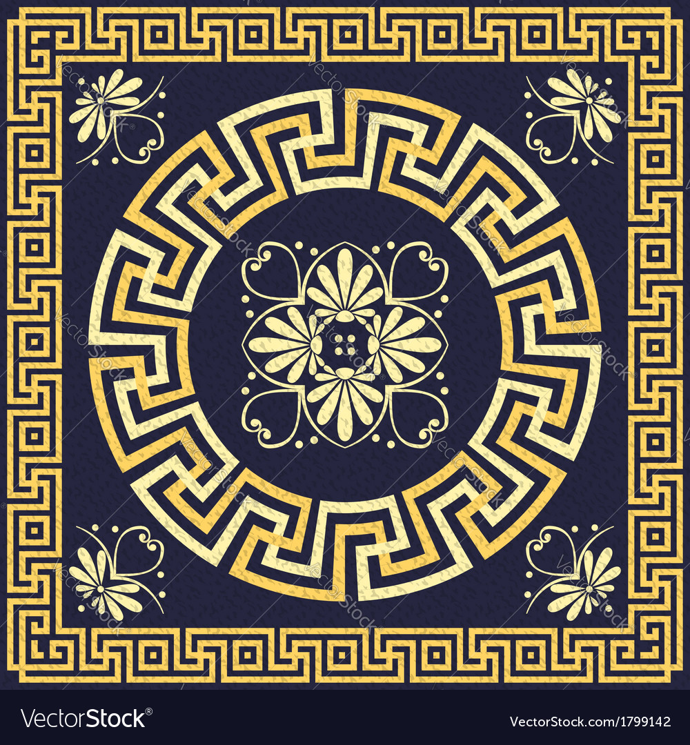 Greek ornament meander vector | Price: 1 Credit (USD $1)