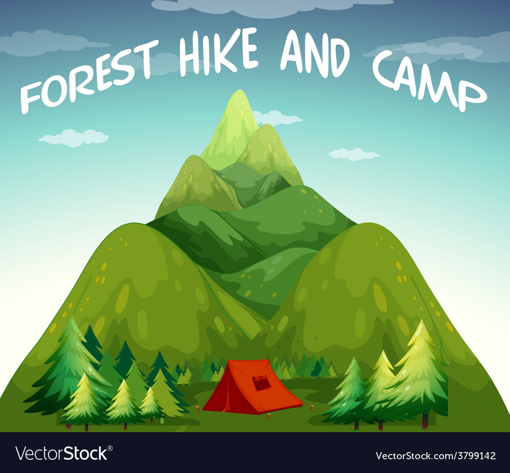 Hiking campsite vector
