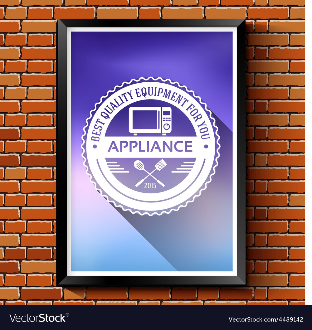 Household appliances logo or label template vector | Price: 1 Credit (USD $1)