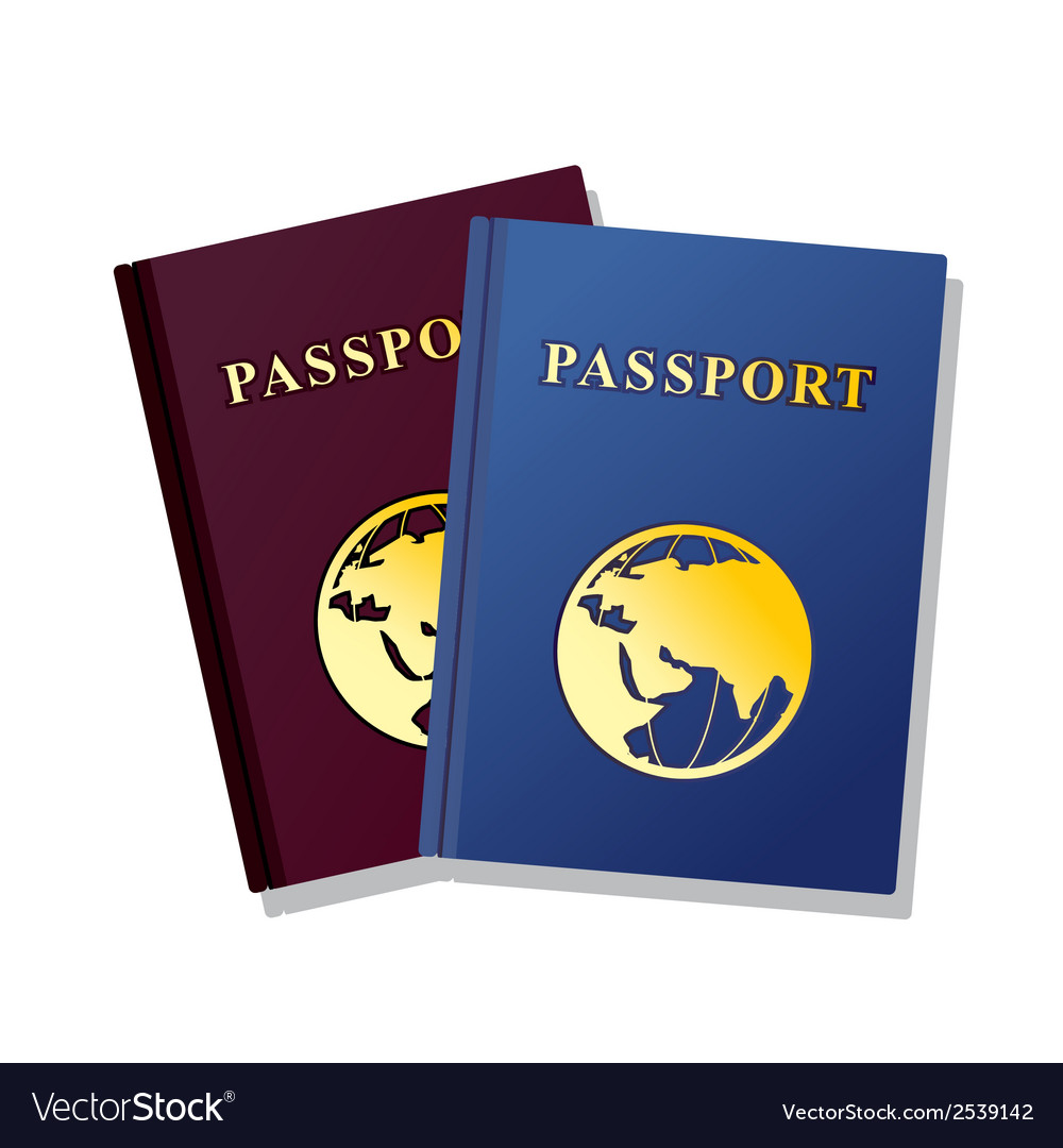 Passport isolated on white background vector | Price: 1 Credit (USD $1)