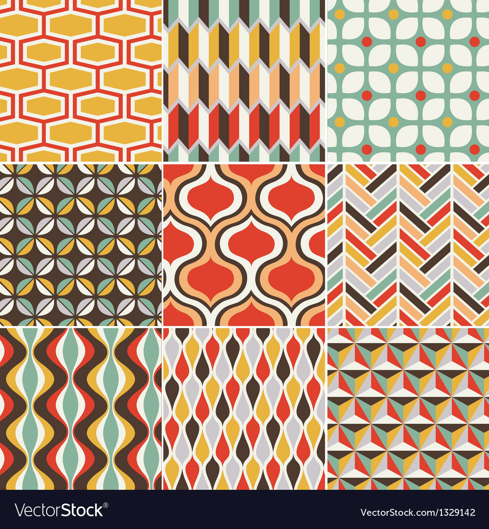 Retro seamless pattern vector | Price: 3 Credit (USD $3)