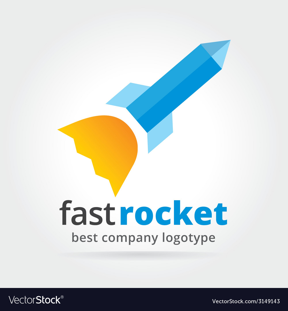 Abstract rocket logotype isolated on white vector | Price: 1 Credit (USD $1)