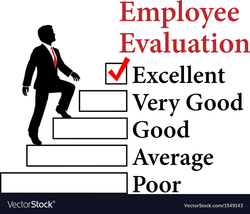 Business employee improve evaluation vector | Price: 1 Credit (USD $1)