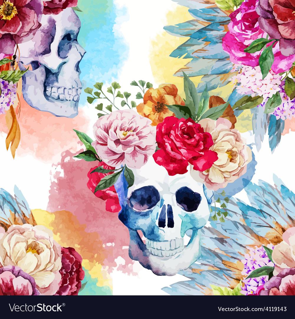 Ethnic skull vector | Price: 1 Credit (USD $1)