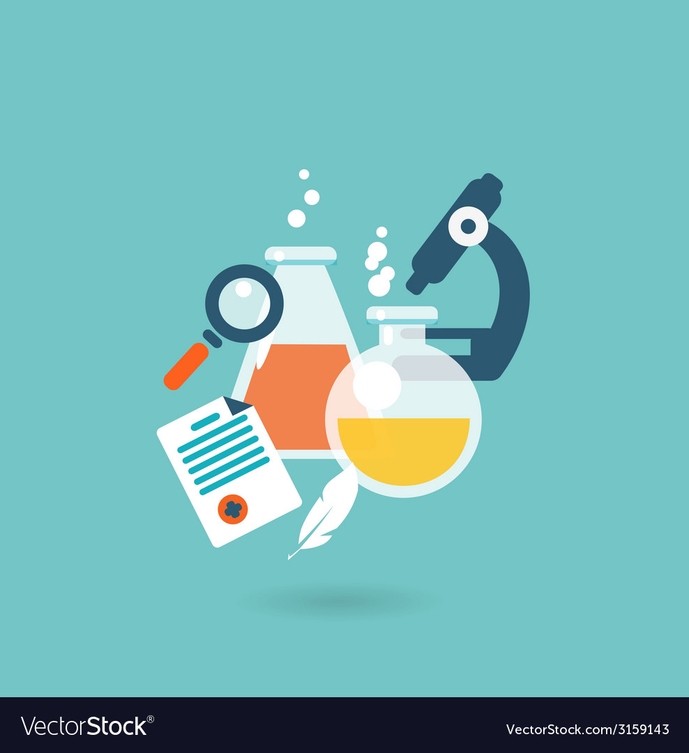 Flat design concept for chemistry vector | Price: 1 Credit (USD $1)